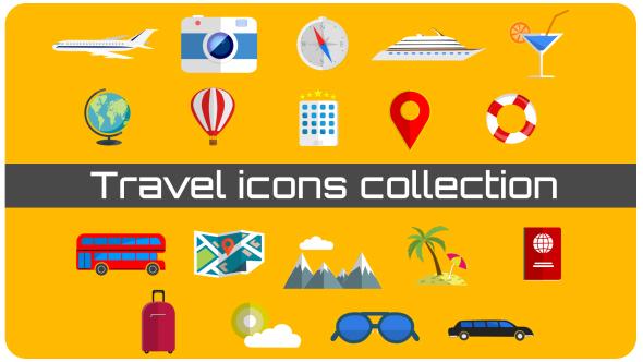 Travel kuvakkeet Collection - Muut elementit Motion Graphics