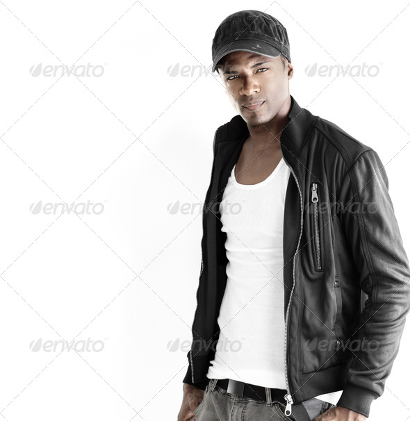 PhotoDune Black male fashion model 1620438