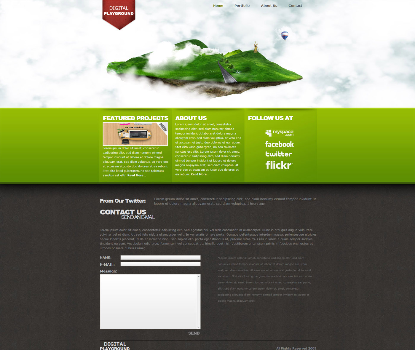 Digital Playground Modern Floating Island Template