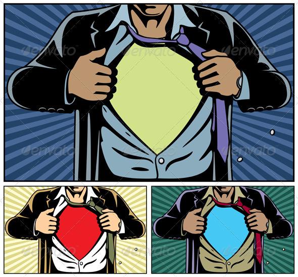 GraphicRiver Superhero Under Cover 971757