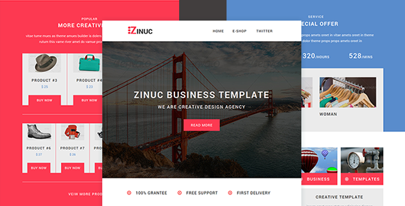 Download Zinuc - E-Commerce  Responsive Email with Stampready builder nulled download