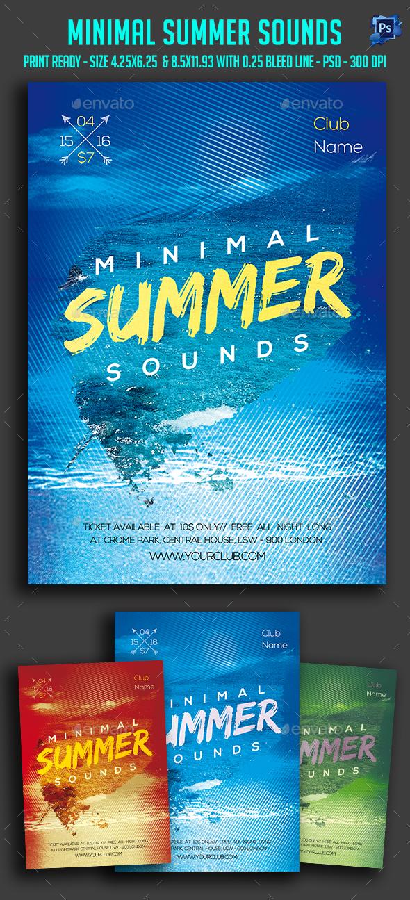 Minimal Summer Sounds Flyer