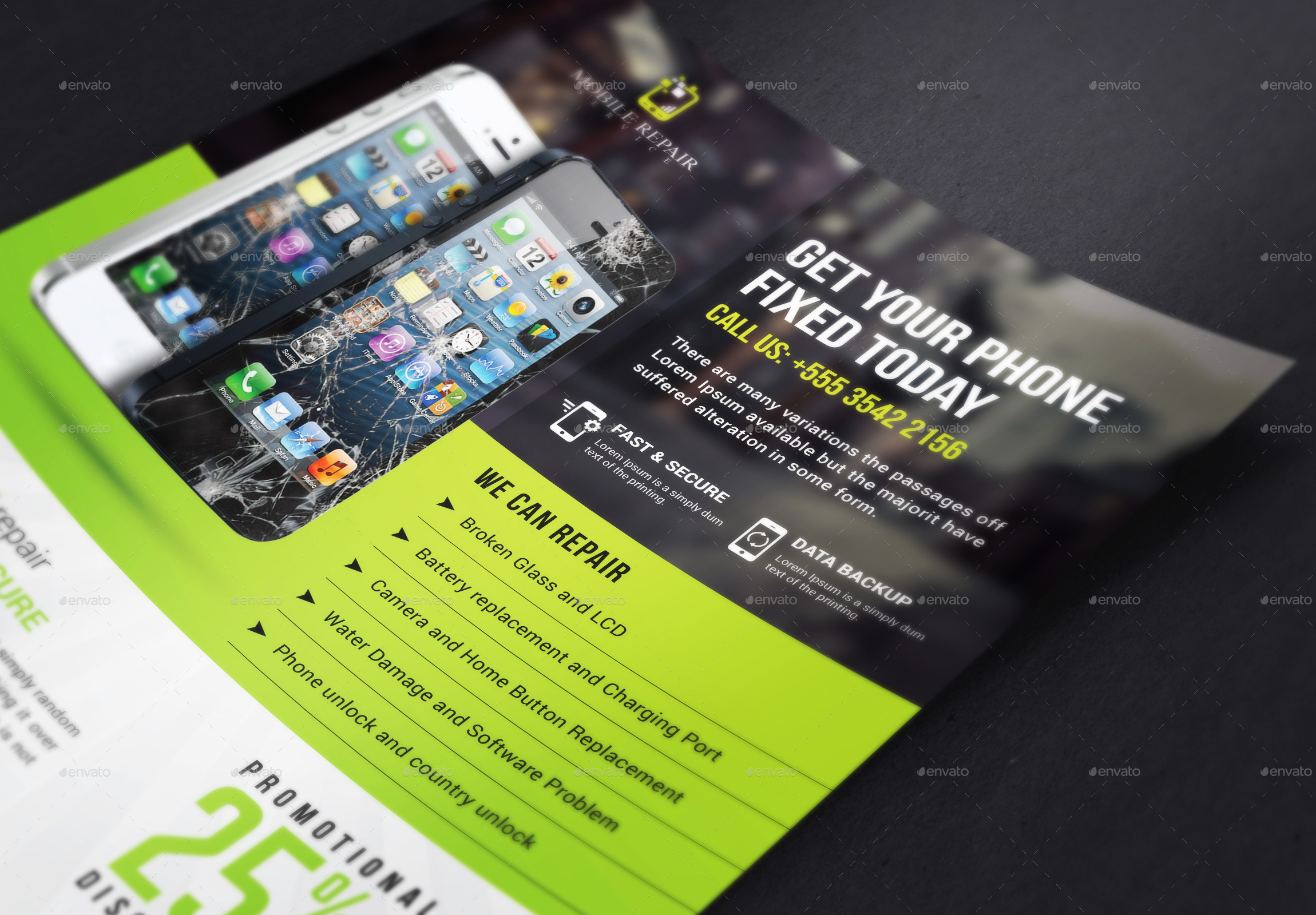 smartphone repair service flyer by themedevisers graphicriver screenshort mobile repair flyer jpg