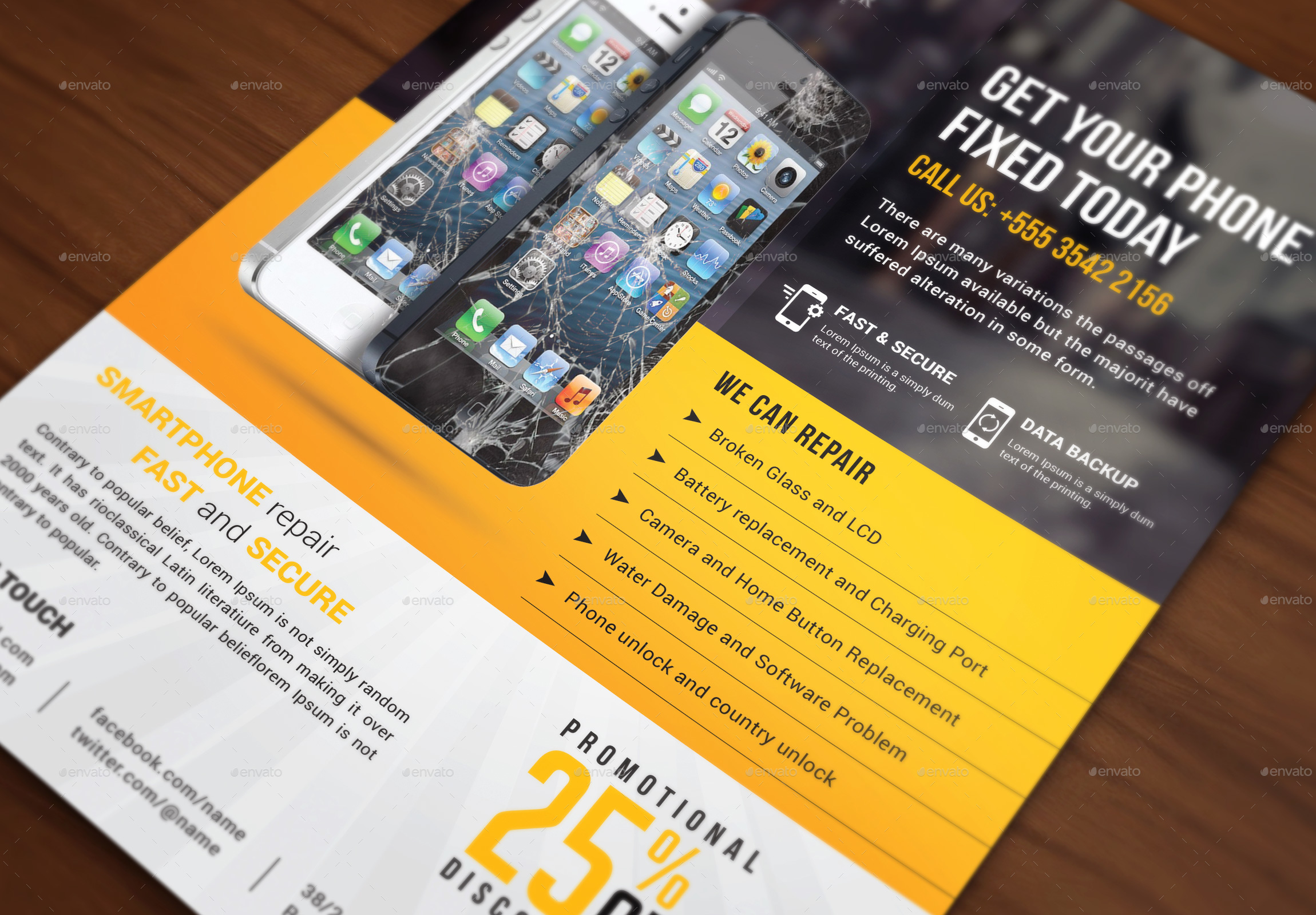smartphone repair service flyer by themedevisers graphicriver screenshort mobile repair flyer jpg screenshort mobile repair jpg