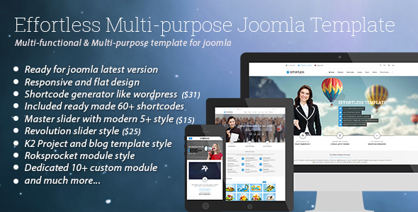 Effortless - Multi-purpose Joomla Template