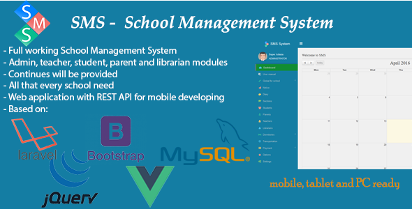 SMS - School Management System nulled download