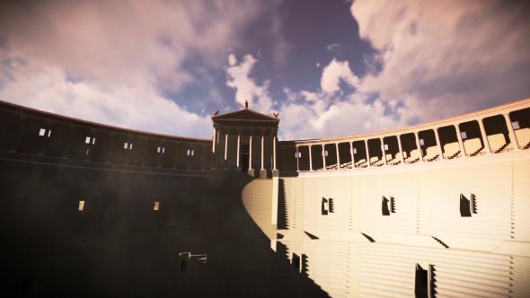3D amfiteatteri Pompejin - 3D, Object Taustat Motion Graphics