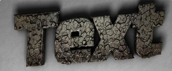 Shatter Displaced Text - 3DOcean Item for Sale
