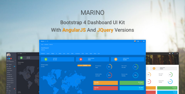 25. Marino - Bootstrap 4 Dashboard UI Kit