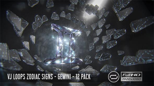 VJ Loops horoskooppi - Gemini - 12 Pack - Light Taustat Motion Graphics