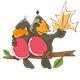 Set of Cute Parrots for You Design