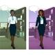 Download Vector African Businesswoman In Office Interior