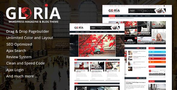 Gloria - Responsive News Magazine Newspaper WordPress Theme