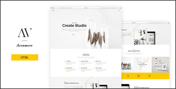 Avonmore - Creative Multipurpose HTML Theme