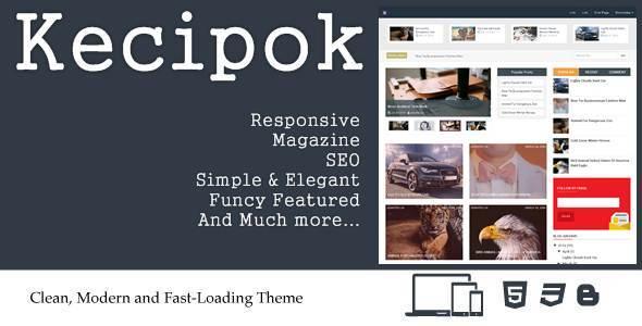 Kecipok - Responsive Magazine Blogger Theme
