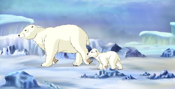 Polar Bear UHD - Taustat Luonnosta Motion Graphics