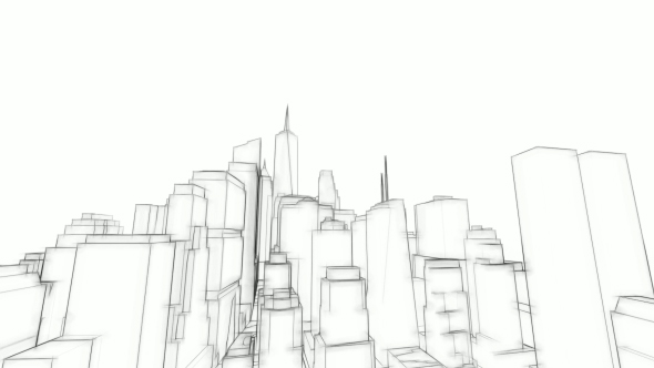 3D Arkkitehtuuri Sketch Tausta - Taustat Motion Graphics