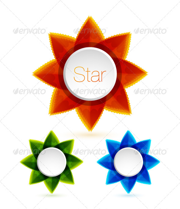 Colorful stars. Vector design elements - Decorative Symbols Decorative