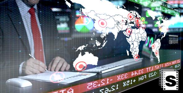 Stock Market Trader - Business, Corporate Arkistofilmit