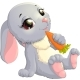 Rabbit On Carrot