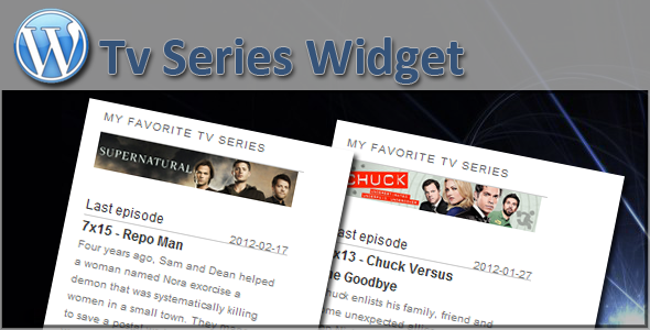 CodeCanyon Tv Series Widget 1621626