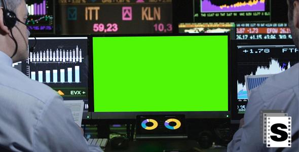 Stock Market Green Screen - Business, Corporate Arkistofilmit