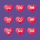 Pink Heart Emoji Character Set