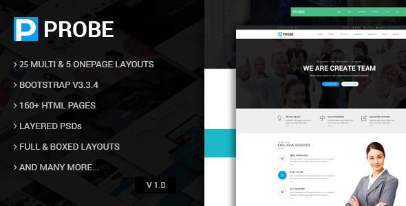 Probe - Responsive Multi-Purpose Drupal 7 & 8 Theme