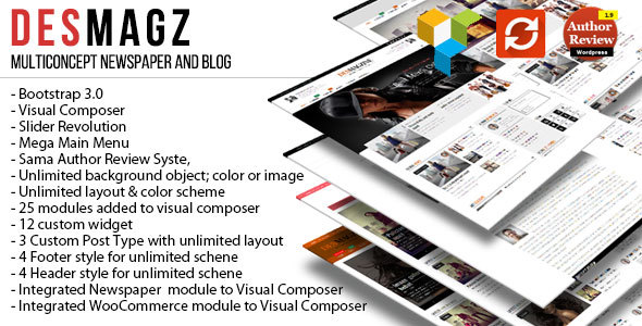 DesMagz - WordPress Multiconcept Magazine Theme