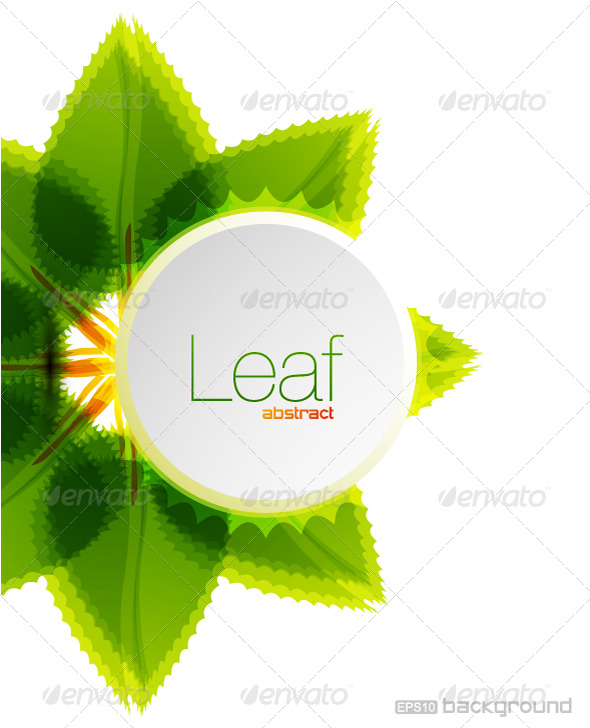 GraphicRiver Leaf vector background design 191049