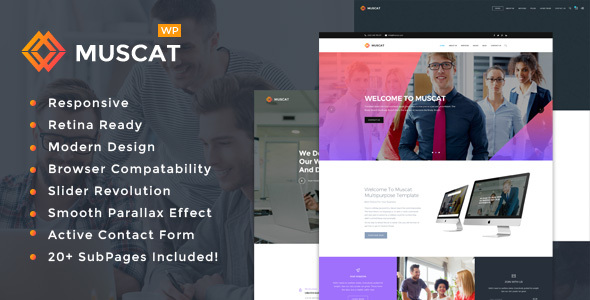 Download Muscat : Multipurpose WordPress Theme nulled download