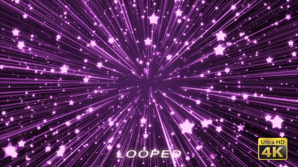 Purple Glowing Stars Background - Tapahtumat Taustat Motion Graphics