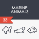 Marine Animals Thinline Icons