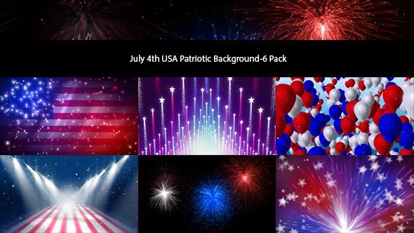 4 heinäkuu USA isänmaallinen tausta-6 Pack - Tapahtumat Taustat Motion Graphics