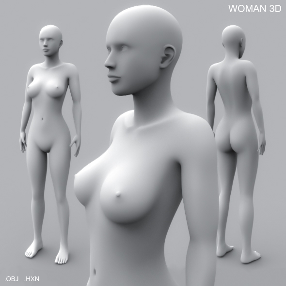 Woman 3D - 3DOcean Item for Sale
