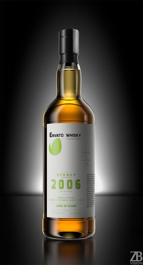Whisky Bottle - 3DOcean Item for Sale