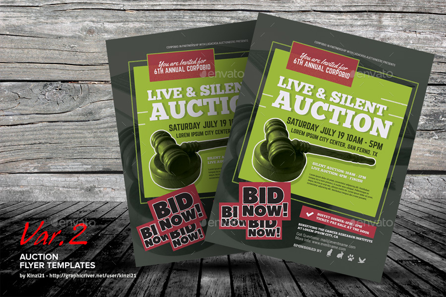 auction brochure template - auction flyer templates by kinzi21 graphicriver
