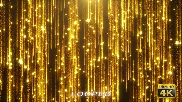 Kulta Falling Stars Background - Tapahtumat Taustat Motion Graphics