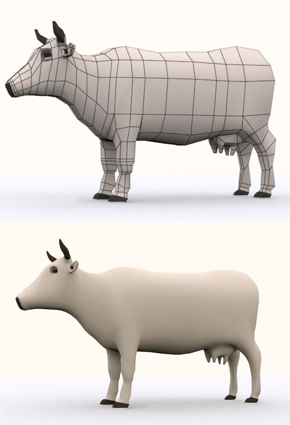 Cow Model - 3DOcean Item for Sale