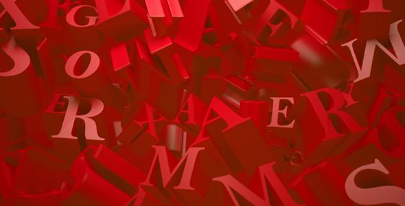 Animoituja tausta Letters - 3D, Object Taustat Motion Graphics