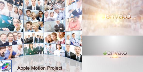 Multi Video Showcase Logo - Apple Motion - Corporate Logo pistot Apple Motion Mallit
