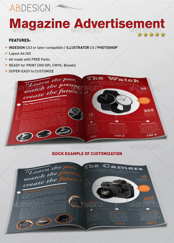Magazine Product Advertisement - Magazines Print Templates