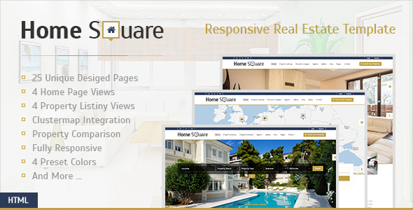 Home Square - Responsive Real Estate Template