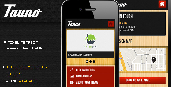 Tauno - A Mobile .PSD Theme