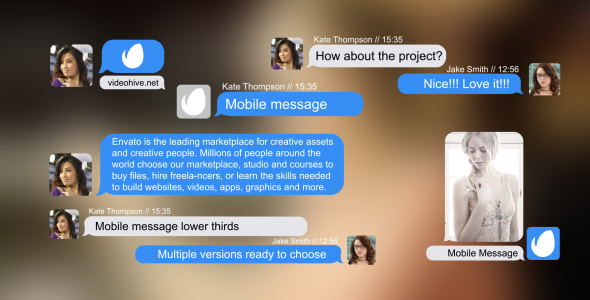 Mobile Message Lower Thirds by zhouxinkui718 | VideoHive