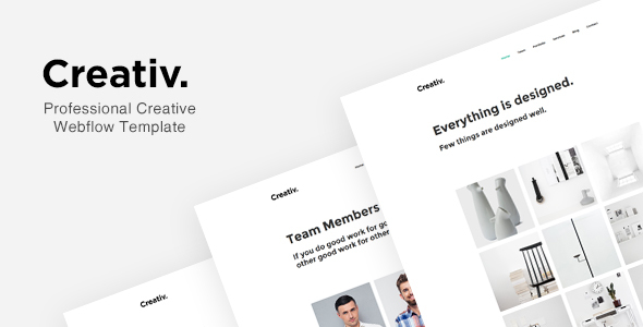 Image of Creativ - Professional Creative Webflow Template