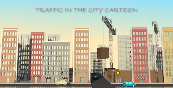 Liikenne In The City Cartoon - Taustat Motion Graphics