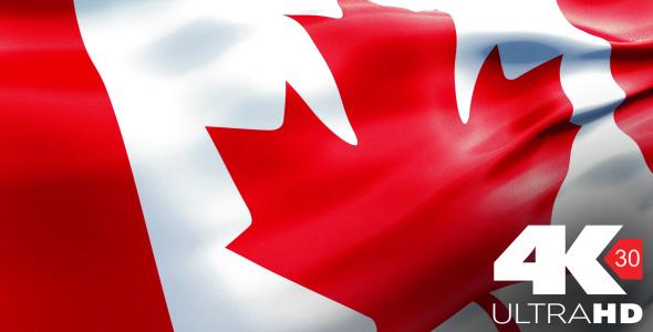 CA Kanada Flag - 3D, Object Taustat Motion Graphics