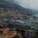 Monaco, Monte Carlo, With Clouds Billowing Over Limestone Cliffs