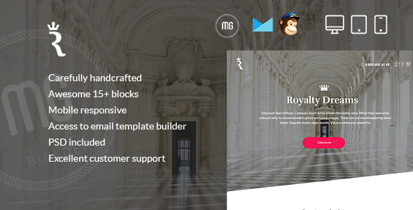 RoyalLetter - Responsive Email  + Builder Access